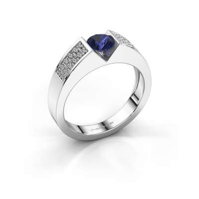 Engagement ring Lizzy 3 950 platinum sapphire 5 mm