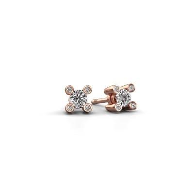 Bild von Ohrsteckers Fleur 585 Roségold Diamant 0.44 crt