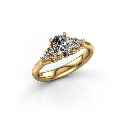 Foto van Verlovingsring Monika OVL 375 goud lab-grown diamant 0.95 crt