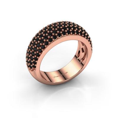 Ring Cristy 585 rose gold black diamond 1.71 crt