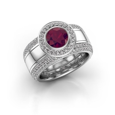 Picture of Ring Roxie 925 silver rhodolite 6.5 mm