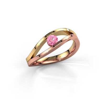 Picture of Engagement ring Sigrid 1 585 rose gold pink sapphire 3.7 mm