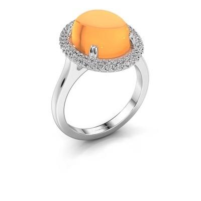 Ring Jayna 375 witgoud citrien 12x10 mm