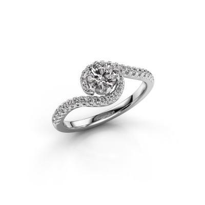 Foto van Verlovingsring Elli 925 zilver diamant 0.753 crt