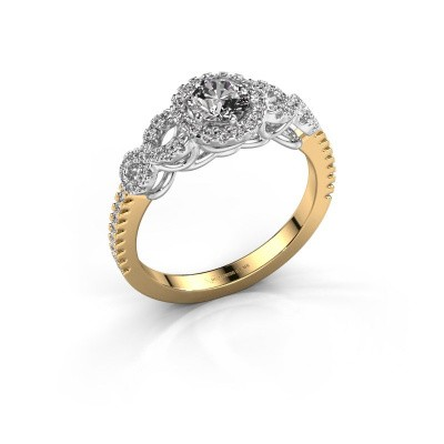 Bague de fiançailles Sasja 585 or jaune diamant 0.825 crt