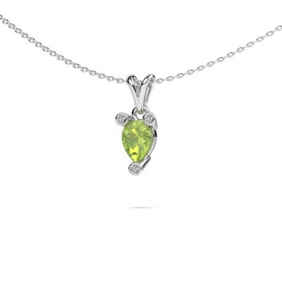 Picture of Necklace Cornelia Pear 950 platinum peridot 7x5 mm