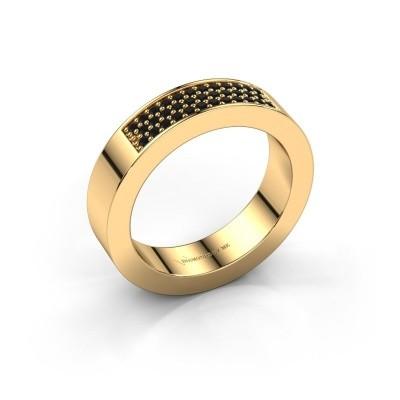 Ring Lindsey 1 375 goud zwarte diamant 0.28 crt