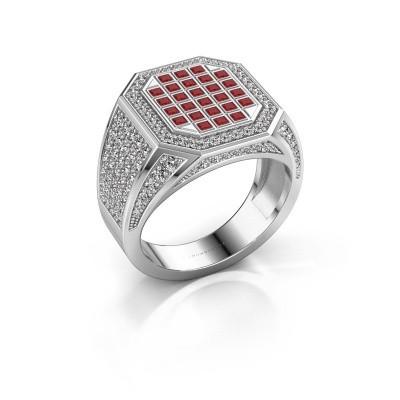 Heren ring Bjorn 950 platina robijn 1.5 mm