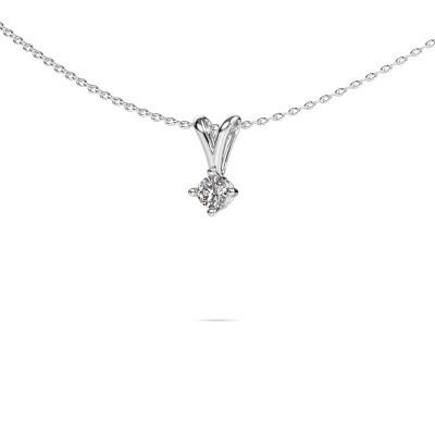 Photo de Collier Jannette 925 argent diamant synthétique 0.20 crt