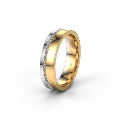 Wedding ring WH6090L55A 585 gold diamond ±5x1.7 mm