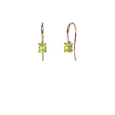 Picture of Drop earrings Cleo 375 rose gold peridot 6x4 mm