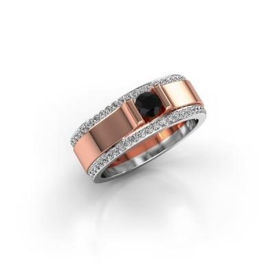 Men's ring Danillo 585 rose gold black diamond 0.765 crt