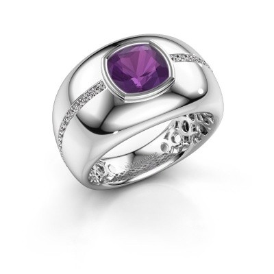 Picture of Ring Sydney 585 white gold amethyst 7.5 mm