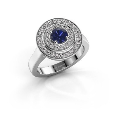 Foto van Ring Alecia 1 925 zilver saffier 5 mm