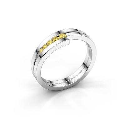 Foto van Ring Cato 925 zilver gele saffier 2.2 mm