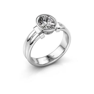 Ring Gerda 925 silver lab grown diamond 1.15 crt