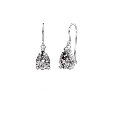 Picture of Drop earrings Laurie 1 950 platinum diamond 2.10 crt