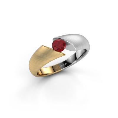 Foto van Ring Hojalien 1 585 goud robijn 4.2 mm