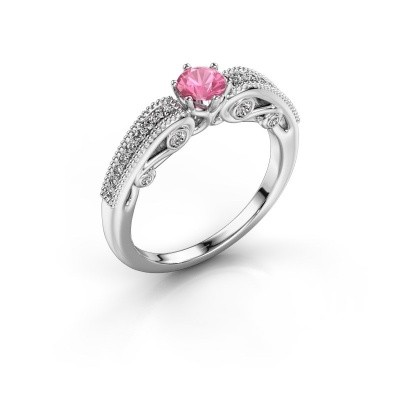 Verlobungsring Christeen 950 Platin Pink Saphir 4.2 mm