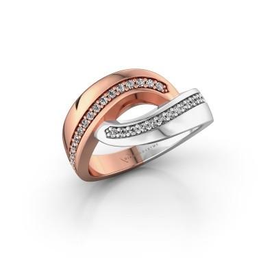 Ring Sharita 585 rosé goud diamant 0.24 crt
