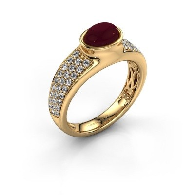 Ring Tatyana 585 goud granaat 7x5 mm