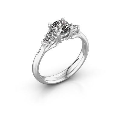 Foto van Verlovingsring Monika RND 585 witgoud lab-grown diamant 0.75 crt