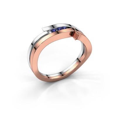Ring Amelie 585 Roségold Saphir 1.7 mm