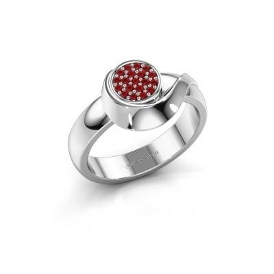 Ring Kimber 925 zilver robijn 1 mm