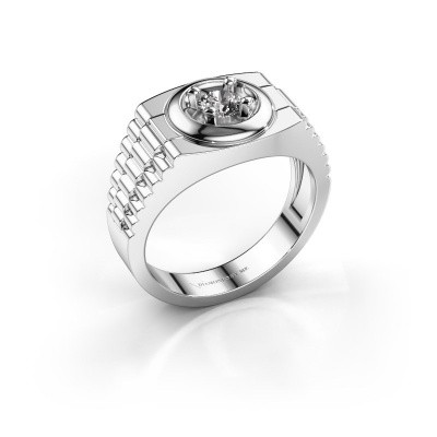 Foto van Heren ring Edward 585 witgoud diamant 0.40 crt