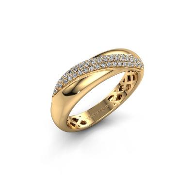 Foto van Ring Rosie 585 goud zirkonia 0.9 mm