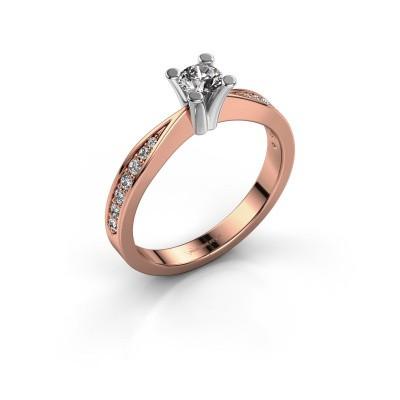 Promise ring Ichelle 2 585 rosé goud diamant 0.425 crt