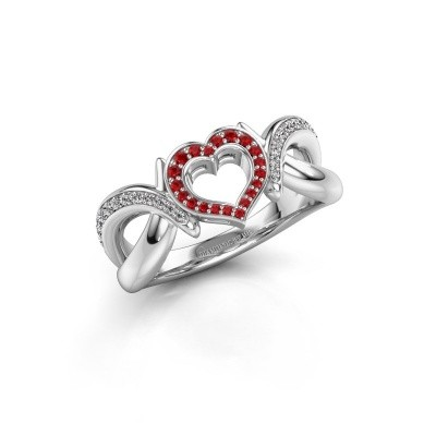 Ring Earlie 2 925 silver ruby 1.1 mm
