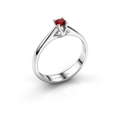 Engagement ring Janna 1 585 white gold ruby 3.4 mm