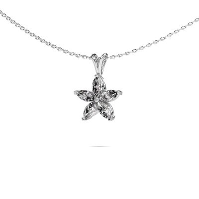 Ketting Sylvana 950 platina lab-grown diamant 0.14 crt