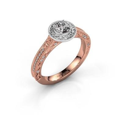 Verlovings ring Alice RND 585 rosé goud diamant 0.400 crt