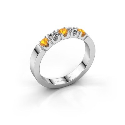 Picture of Engagement ring Dana 5 925 silver citrin 3 mm
