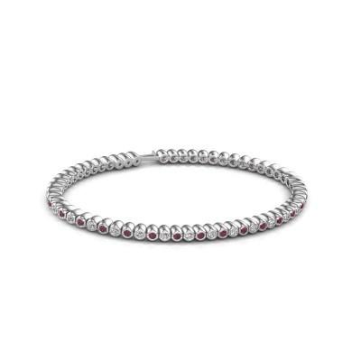 Tennisarmband Trix 585 witgoud rhodoliet 2 mm