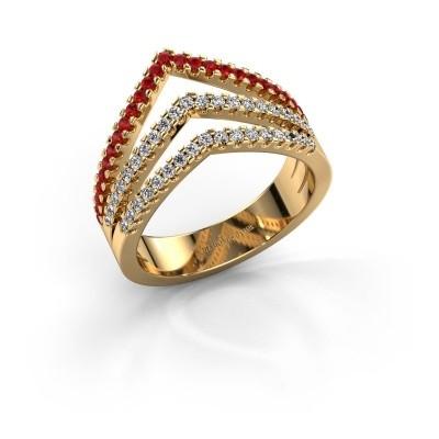 Ring Kendra 375 gold ruby 1.2 mm