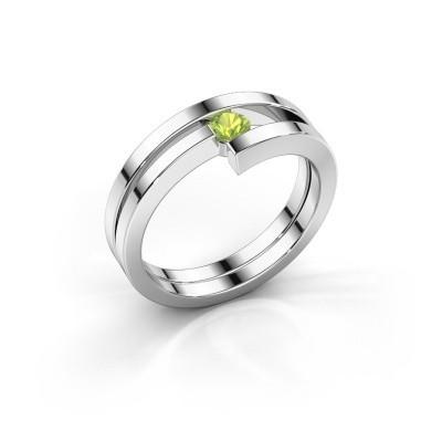 Ring Nikia 925 zilver peridoot 3.4 mm
