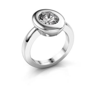 Ring Selene 1 950 platina zirkonia 9x7 mm