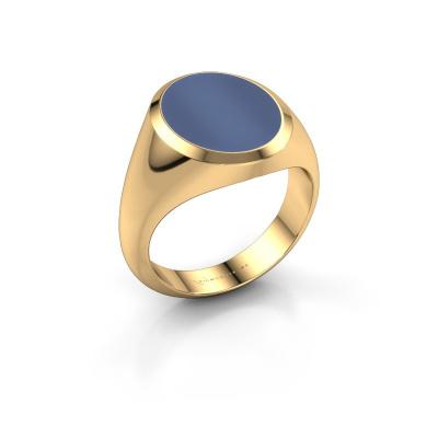 Foto van Zegelring Herman 4 585 goud blauw lagensteen 15x12 mm