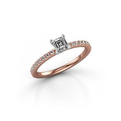 Foto van Verlovingsring Crystal ASS 2 585 rosé goud lab-grown diamant 0.680 crt