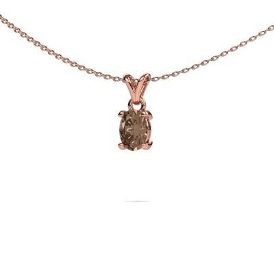 Foto van Ketting Lucy 1 375 rosé goud bruine diamant 0.80 crt