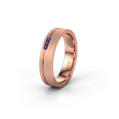 Wedding ring WH0156L14X 375 rose gold sapphire ±0.18x0.05 in