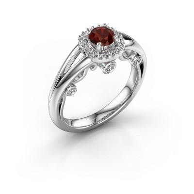 Picture of Engagement ring Carina 585 white gold garnet 4.7 mm