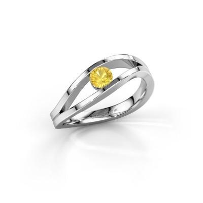 Bild von Ring Sigrid 1 925 Silber Gelb Saphir 4 mm