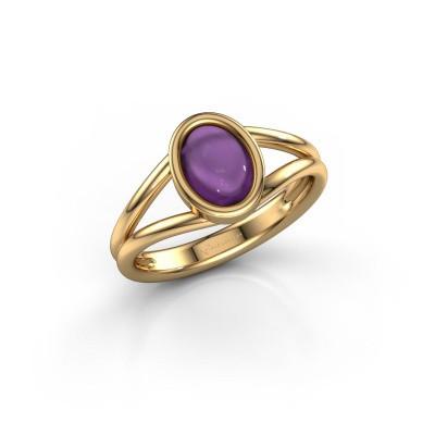 Foto van Ring Lieselotte 585 goud amethist 9x7 mm