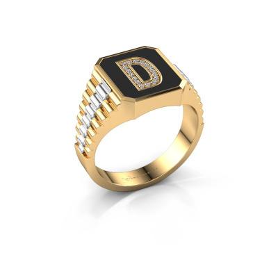 Foto van Zegelring Stephan 1 585 goud diamant 0.068 crt