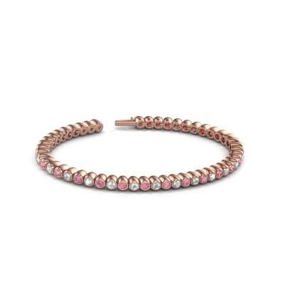 Foto van Tennisarmband Patrica 375 rosé goud roze saffier 2.4 mm