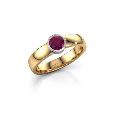 Ring Ise 1 585 goud rhodoliet 4.7 mm